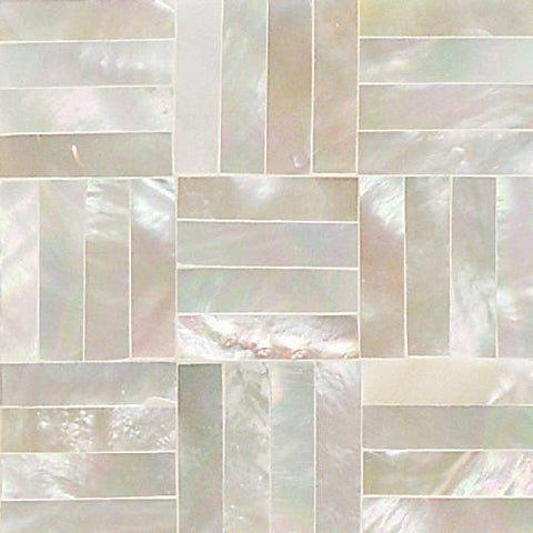 Daltile Ocean Jewels 2 x 2 Mother of Pearl Basketweave Flat Accent