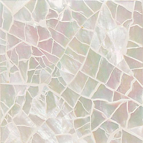 Daltile Ocean Jewels 2 x 2 Mother of Pearl Crackled Flat Accent