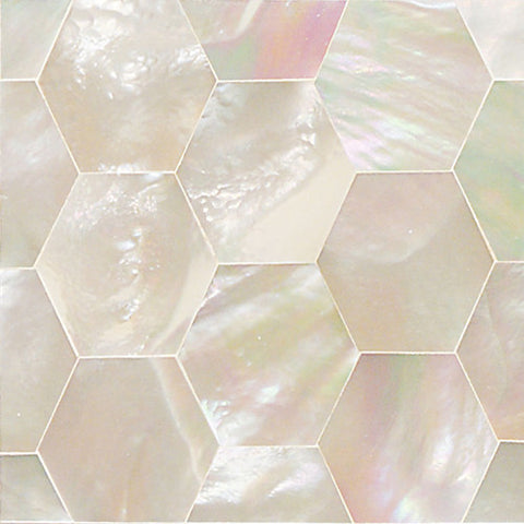 Daltile Ocean Jewels 2 x 2 Mother of Pearl Hexagon Flat Accent