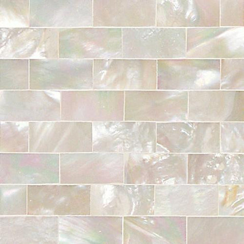 Daltile Ocean Jewels 2 x 2 Mother of Pearl Running Board Flat Accent