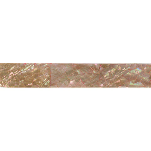 Daltile Ocean Jewels 1 x 6 Brown Lip Crackled Flat Liner