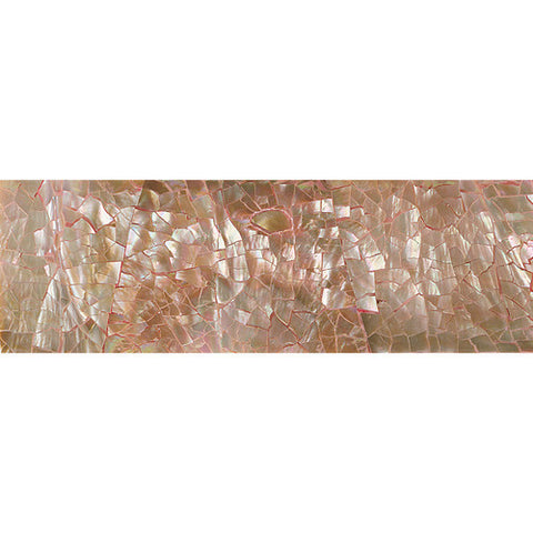 Daltile Ocean Jewels 2 x 6 Brown Lip Crackled Raised Liner