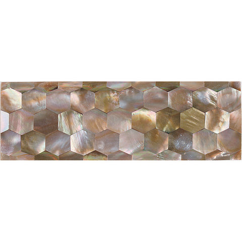 Daltile Ocean Jewels 2 x 6 Brown Lip Hexagon Raised Liner