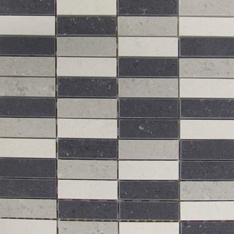 "Orion 12""X12"" Gris Taurus Mosaic - American Fast Floors"