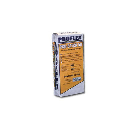 Proflex Pro Stick 50 (Medium Bed Mortar) White - American Fast Floors