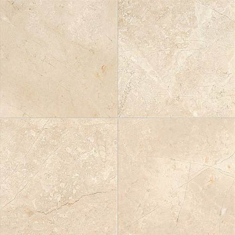 Daltile Phaedra Cream Polished 18 x 18 Marble