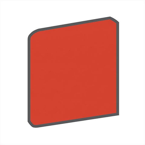 American Olean Bright 4-1/4 x 4-1/4 Watermelon Sorbet Surface Bullnose Outcorner