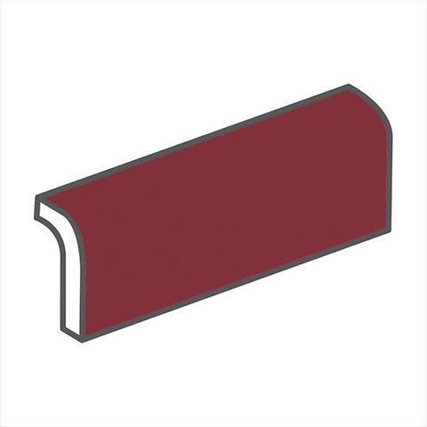 "American Olean Bright 2 x 6 Pomegranate Radius Bullnose - 6"" Side"