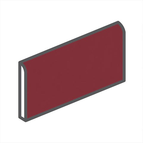 "American Olean Bright 2 x 6 Pomegranate Wall Surface Bullnose - 6"" Side"