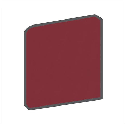 American Olean Bright 4-1/4 x 4-1/4 Pomegranate Surface Bullnose Outcorner - American Fast Floors