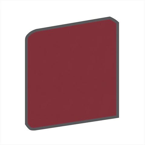 American Olean Bright 6 x 6 Pomegranate Surface Bullnose Corner