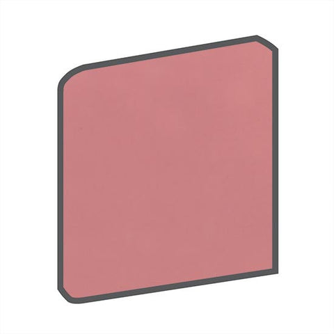 American Olean Bright 4-1/4 x 4-1/4 Antique Rose Radius Bullnose Corner