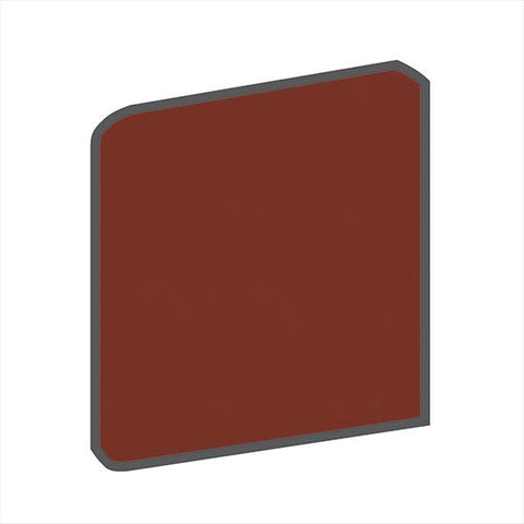 American Olean Bright 6 x 6 Chili Pepper Surface Bullnose Corner