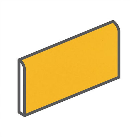 "American Olean Bright 2 x 6 Lemon Zest Wall Surface Bullnose - 6"" Side"