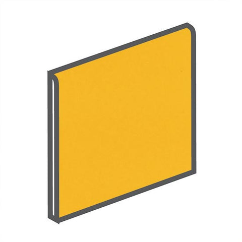 American Olean Bright 4-1/4 x 4-1/4 Lemon Zest Surface Bullnose
