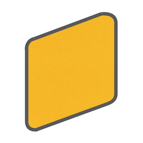 American Olean Bright 2 x 2 Lemon Zest Wall Surface Bullnose Outcorner - American Fast Floors