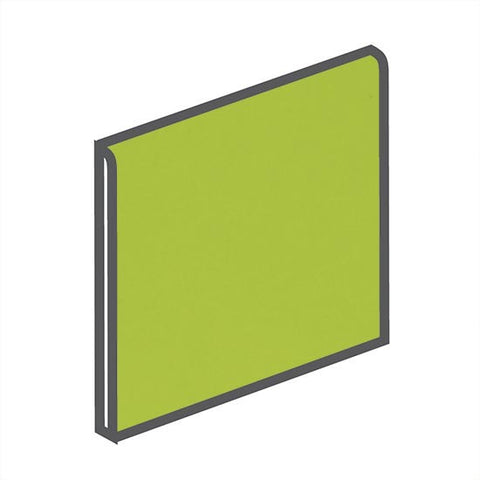 American Olean Bright 4-1/4 x 4-1/4 Green Apple Surface Bullnose