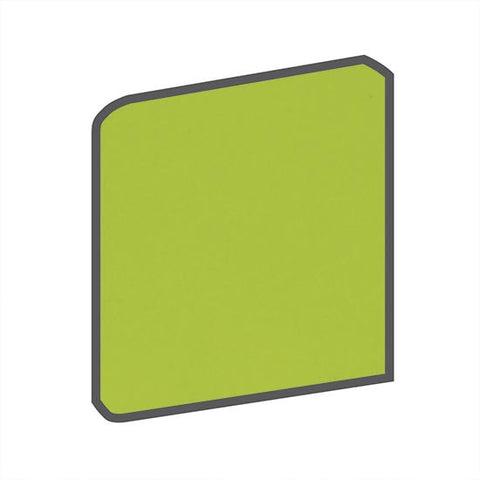 American Olean Bright 4-1/4 x 4-1/4 Green Apple Surface Bullnose Outcorner