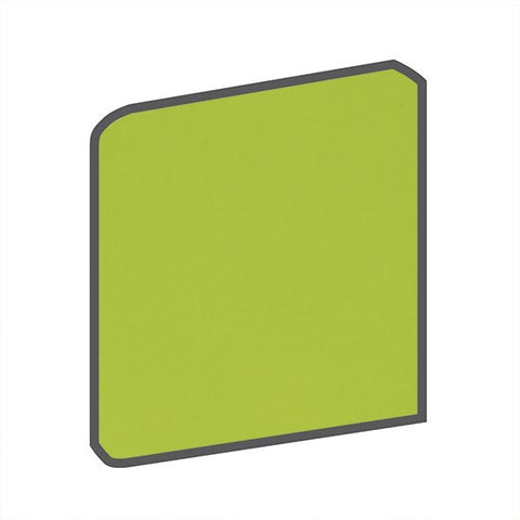 American Olean Bright 6 x 6 Green Apple Surface Bullnose Corner