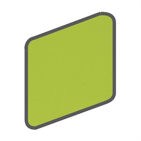 American Olean Bright 2 x 2 Green Apple Wall Surface Bullnose Outcorner