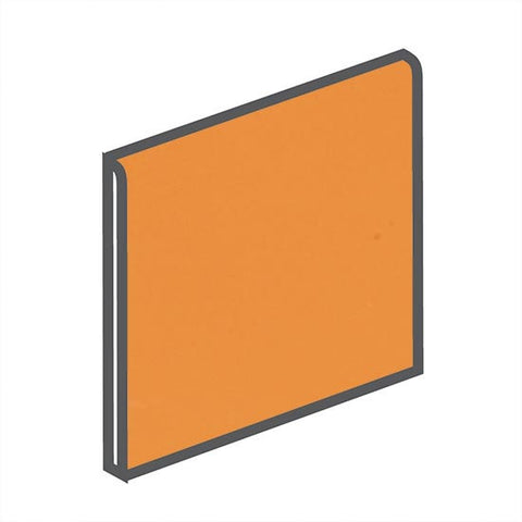 American Olean Bright 4-1/4 x 4-1/4 Mandarin Orange Surface Bullnose