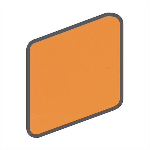 American Olean Bright 2 x 2 Mandarin Orange Wall Surface Bullnose Outcorner - American Fast Floors