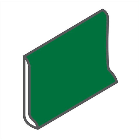 "American Olean Bright 4-1/4 x 6 Shamrock Green Sanitary Cove Base - 6"" Side - American Fast Floors"