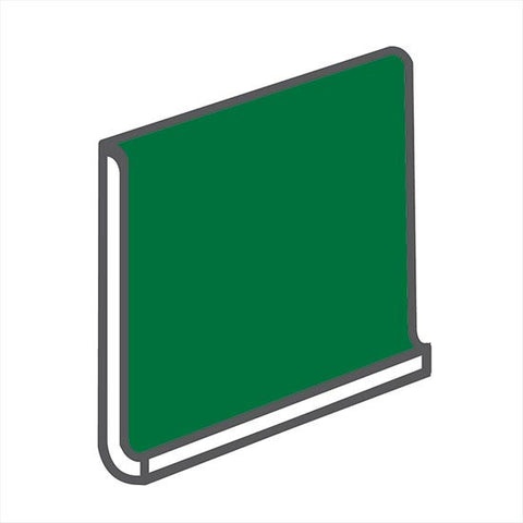 American Olean Bright 6 x 6 Shamrock Green Sanitary Cove Base - American Fast Floors