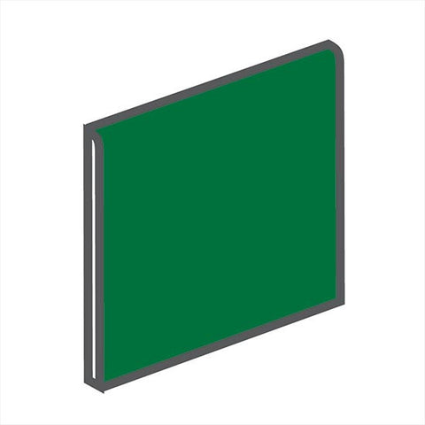 American Olean Bright 6 x 6 Shamrock Green Surface Bullnose - American Fast Floors