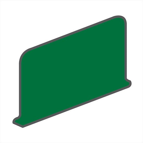 American Olean Bright 4-1/4 x 6 Shamrock Green Sanitary Cove Base Corner (Right/Left) - American Fast Floors