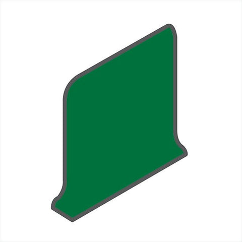 American Olean Bright 6 x 6 Shamrock Green Sanitary Cove Base Corner