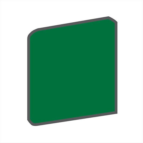 American Olean Bright 4-1/4 x 4-1/4 Shamrock Green Surface Bullnose Outcorner