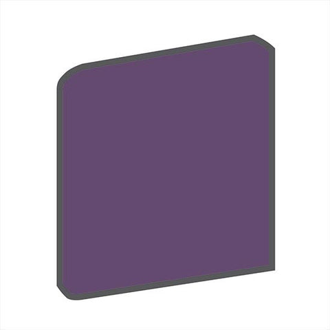 American Olean Bright 4-1/4 x 4-1/4 Grape Soda Radius Bullnose Corner