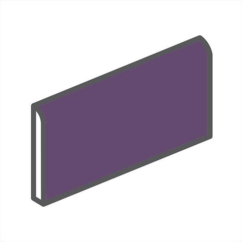 "American Olean Bright 2 x 6 Grape Soda Wall Surface Bullnose - 6"" Side"