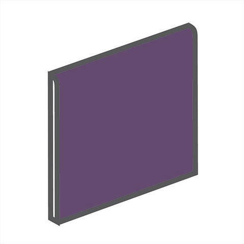 American Olean Bright 4-1/4 x 4-1/4 Grape Soda Surface Bullnose