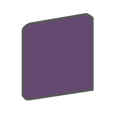 American Olean Bright 4-1/4 x 4-1/4 Grape Soda Surface Bullnose Outcorner - American Fast Floors