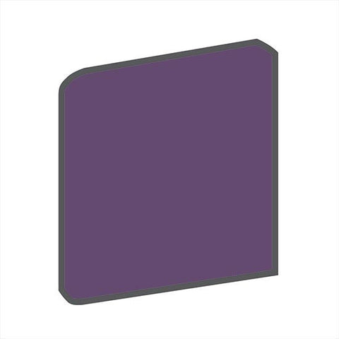 American Olean Bright 6 x 6 Grape Soda Surface Bullnose Corner