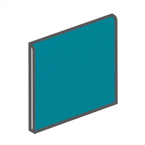 American Olean Bright 4-1/4 x 4-1/4 Peacock Blue Surface Bullnose