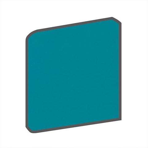 American Olean Bright 6 x 6 Peacock Blue Surface Bullnose Corner