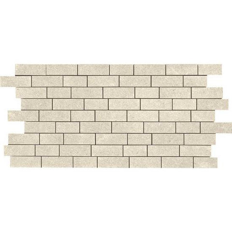 American Olean Relevance Contemporary Cream 2 x 1 Brick-Joint Mosaic