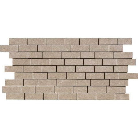 American Olean Relevance Timely Beige 2 x 1 Brick-Joint Mosaic