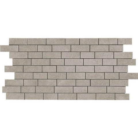 American Olean Relevance Germane Gray 2 x 1 Brick-Joint Mosaic