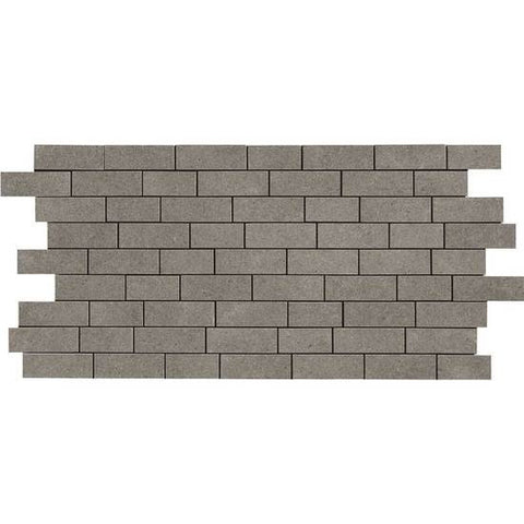 American Olean Relevance Essential Charcoal 2 x 1 Brick-Joint Mosaic