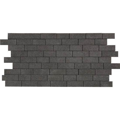 American Olean Relevance Exact Black 2 x 1 Brick-Joint Mosaic