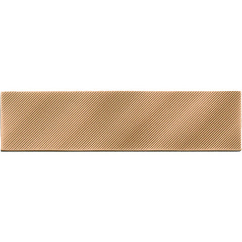 American Olean Refined Metals 2 x 8 Bronze Gloss Linear Wave Wall Tile