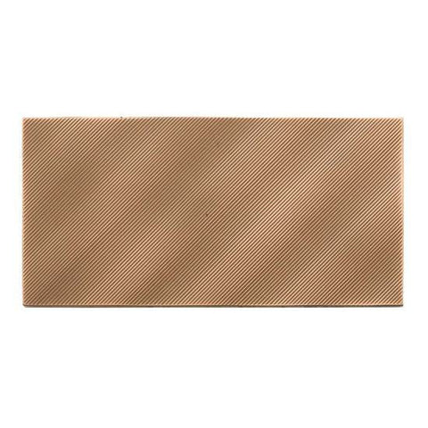 American Olean Refined Metals 4 x 8 Bronze Gloss Linear Wave Wall Tile - American Fast Floors