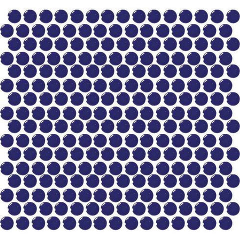 Daltile Retro Rounds Cobalt Circle 1 x 1 Penny Round Mosaic - American Fast Floors