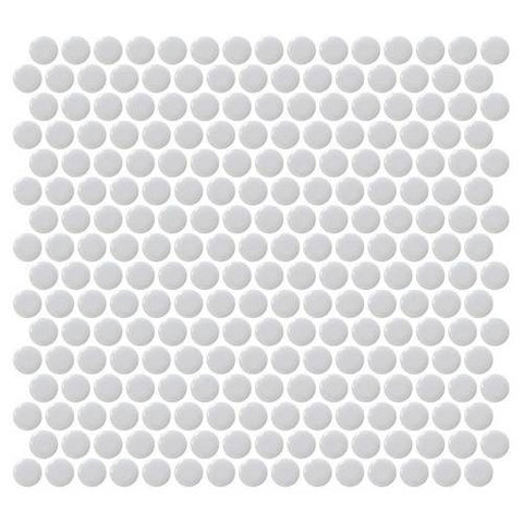Daltile Retro Rounds Smoky Gray 1 x 1 Penny Round Mosaic
