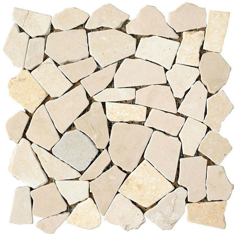 "Rock Art 12""X12"" Beige Juliano Mosaic - American Fast Floors"