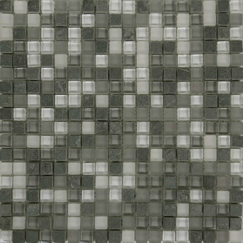 "Rock Art 12""X12"" Gris District Mosaic - American Fast Floors"